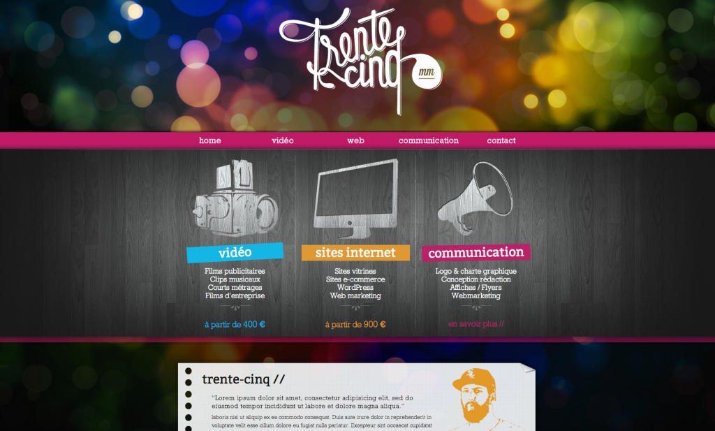 Création du site internet : trente-cinq.fr